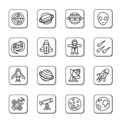 Space Element Doodle Icons
