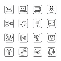 Communication Doodle Icons