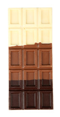 Fototapete - Chocolate bar isolated on white
