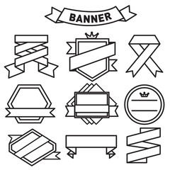 label badge banner with ribbon