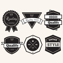 banner label badge balck and white