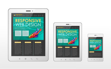 responsive web design concept in tablet and smart phone