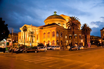 Teatro Massimo, opera house in Palermo. Sicily, Italy.