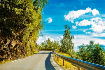 Tuinposter Scandinavië Norway, Road In Norwegian Mountains