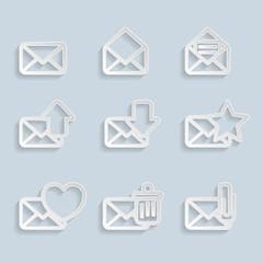 Paper Envelopes Icons