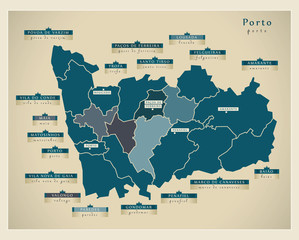Modern Map - Porto PT