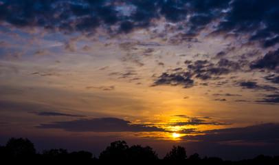 Sunset Sky Background
