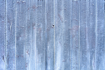 Frozen wooden planks for backgrounds with copyspace