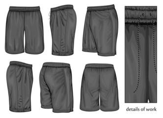 Men's black sport shorts. Fototapete