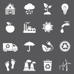 Vector ecology and recycle icons