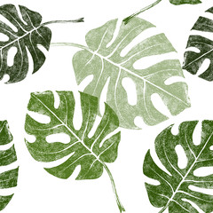 tropical leaves seamless
