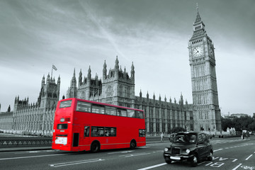 Poster London red bus Bus in London