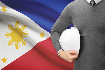 Architect with flag on background  - Philippines