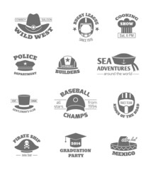 Hat professions stamps