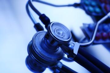 Stethoscope, close up