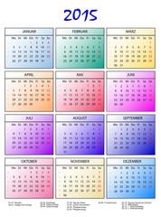 Kalender 2015 bunte Monate