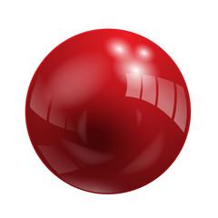 Shiny Red Vector Ball (button icon symbol)