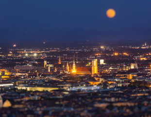 Foto op Plexiglas Napels Night aerial view of Munich, Germany