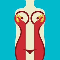 woman body illustration