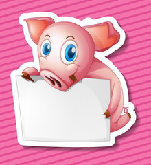 Pig and paper