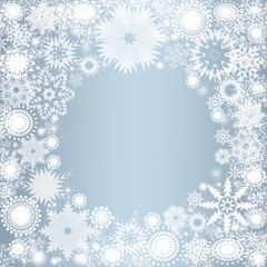 Collection of snowflakes (set of snowflakes) illustration.