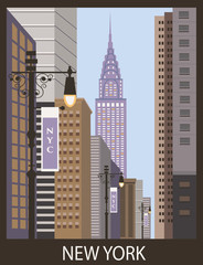 New York city. Vector