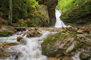 Small waterfall In Balkan Mountains