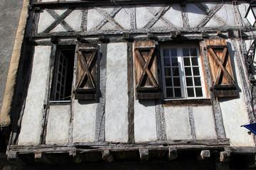 Maisons à pan de bois .