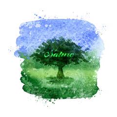 Nature. Vector format