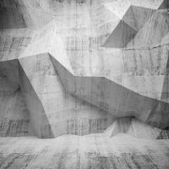 Betonowa ściana 3D