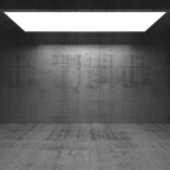 Abstract concrete 3d interior with light portal
