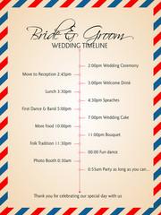Simple infographics style wedding timeline