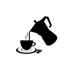 filter coffee in black illustration