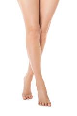 Elegant long bare female legs