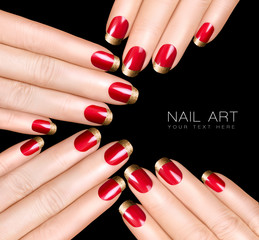 Nail Art Trend. Luxury Nail Polish. Nail Stickers