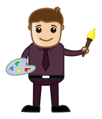 Artist - Vector Character Cartoon Illustration