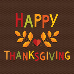 fun thanksgiving card bright text brown background
