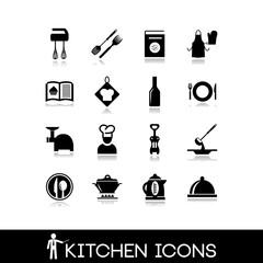 Kitchen accessories - Set icons