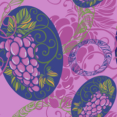 seamless pattern with grape