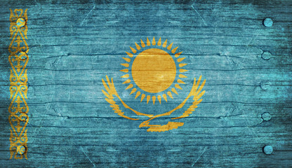 The National Flag of the kazakhstan