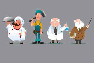 Chef builder chemist teacher