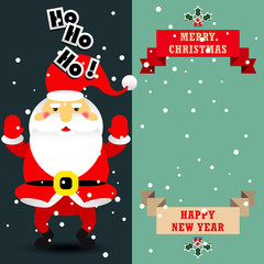 Santa claus vector cartoon illustration