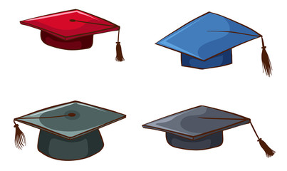 Simple sketches of graduation caps