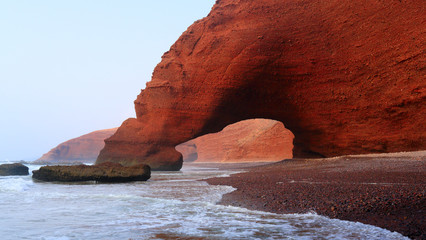 Keuken foto achterwand Marokko Legzira beach, Morocco