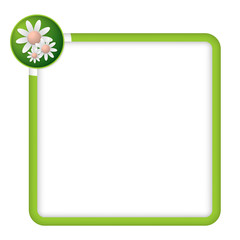green frame for any text with flowers