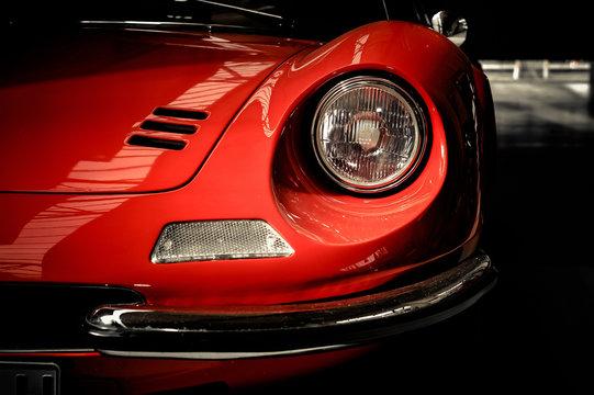 Sportwagen Oldtimer Frontansicht