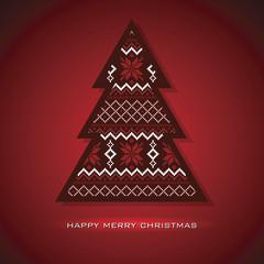 Christmas tree card, vector