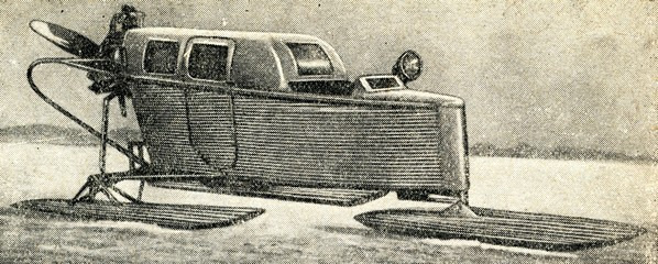 Propeller-driven snowmobile (aerosani)