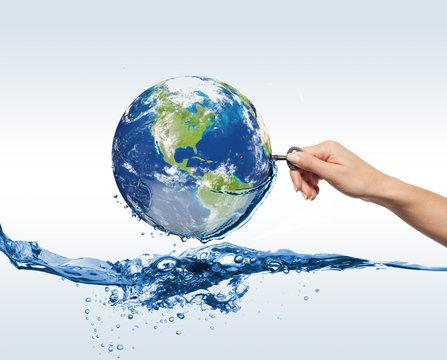 eco globe in water