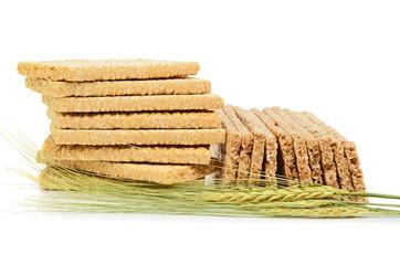 Crispbread and  wheat ear